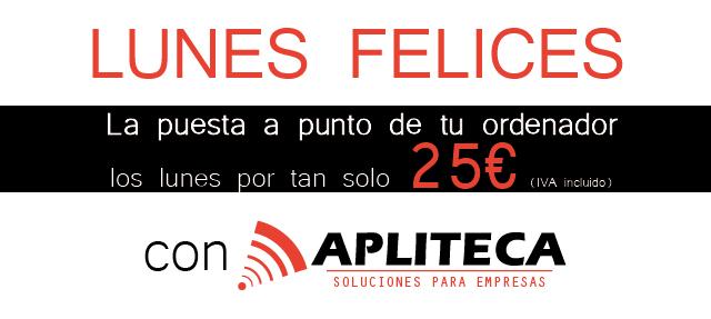 Oferta de reparación de ordenadores en Zaragoza, Apliteca